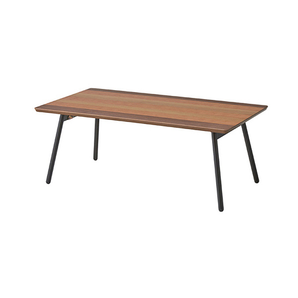 「エルマー フォールディングテーブル」 ローテーブル 折りたたみテーブル 折り畳みテーブル 天然木化粧繊維板(ウォルナット/オーク/チェリー) ブラウン ナチュラル おしゃれ 【送料無料】