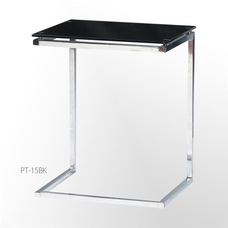 「ガラスサイドテーブル」 ガラステーブル クリア・ブラック