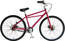 【~40.0kg】INZIST BICYCLE 26インチクルーザー SS ピンク SS-PK◆