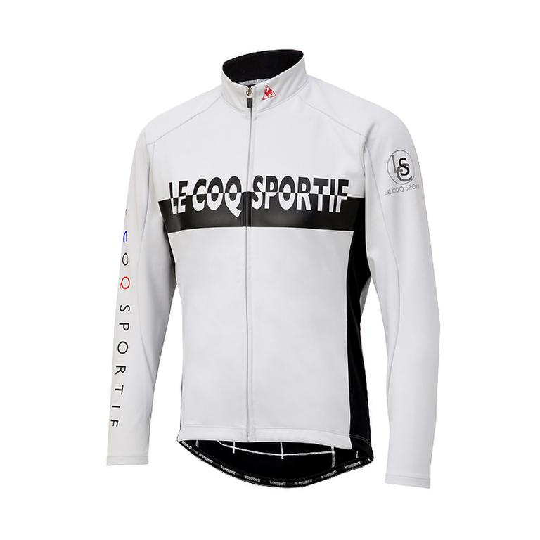 【80】le coq sportif ルコックスポルティフ QCMMGC64 ホワイト Mサイズ 3Lボンディングジャケット LCS4549079647076 お取り寄せ【キャッシュレス5%還元対象】