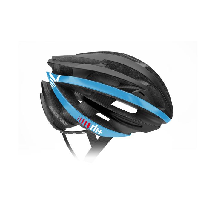 【140】EHX6061 ZY Special Edition Fiber Carbon 07 マットブラック/マットホワイト/マットブルー XS/M rh+ アールエイチプラス ヘルメット EHX6061ZY-BKWHBL-XSM お取り寄せ
