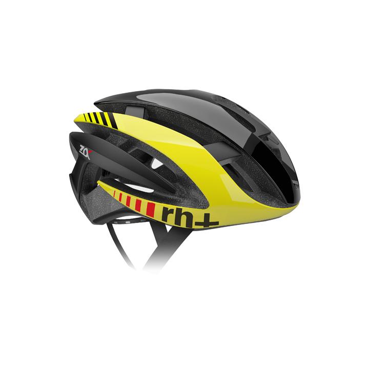 【140】EHX6072 Z ALPHA 01 シャイニーブラック/シャイニーイエローフルオ/マットブラック L/XL rh+ アールエイチプラス ヘルメット EHX6072-BKYLBK-XLX お取り寄せ