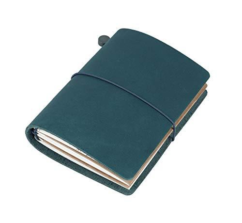 格安SALEスタート Collasaro レザーノート 本革 手帳 メモ帳 お得セット ネイビーブルー パスポートサイズ 135 mm 105 XS x