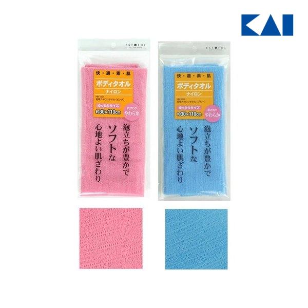 代引き不可 貝印 EF. 浴用タオル やわらかめ ブルー メール便対応 M便 通信販売 1 プレゼント 乾燥肌 アレルギー ギフト HB1002 敏感肌 ボディタオル