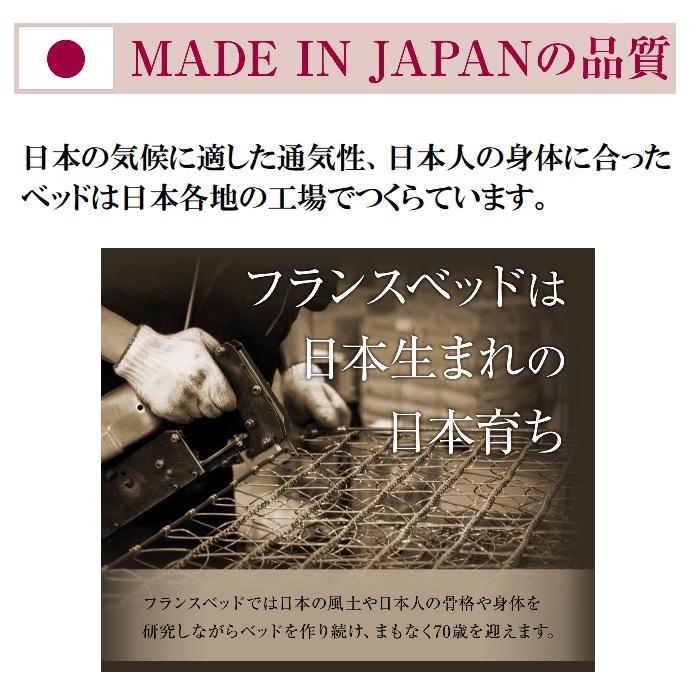 フランスベッド脚付きマットレスFBM-018シングルサイズ【送料無料】【公認ECショップ】日本製
