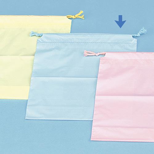 巾着袋(大) ブルーサイズ : 04×250×280mm入数 : 500単価 : 44.68円(税抜)