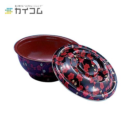 【丼容器・弁当箱】D-1(赤梅内赤)本体サイズ : φ164×72mm入数 : 500単価 : 33.86円(税抜)