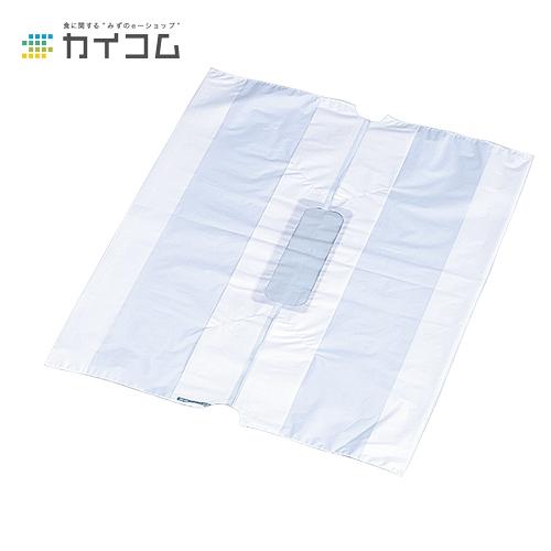 無地バンバン No.5サイズ : 0.030(素材厚み)×540(350(仕上幅)(40+40))×530(長さ)mm入数 : 1000単価 : 18.4円(税抜)
