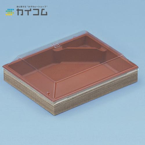 CWH413(赤/たもん杉)フタ付サイズ : 177×144×30mm入数 : 400単価 : 79.39円(税抜)
