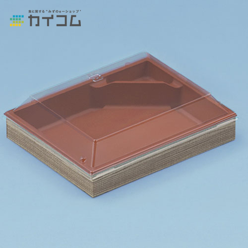 CWH413(赤/たもん杉)フタ付サイズ : 177×144×30mm入数 : 400単価 : 86.97円(税抜):業務用容器カイコム 店
