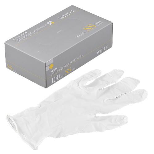 ニトリルゴム手袋 3000枚 使い捨て N600 ニトリル手袋 PRIME 粉無 WHITE (SS)サイズ : SS入数 : 3000単価 : 17.2円(税抜)
