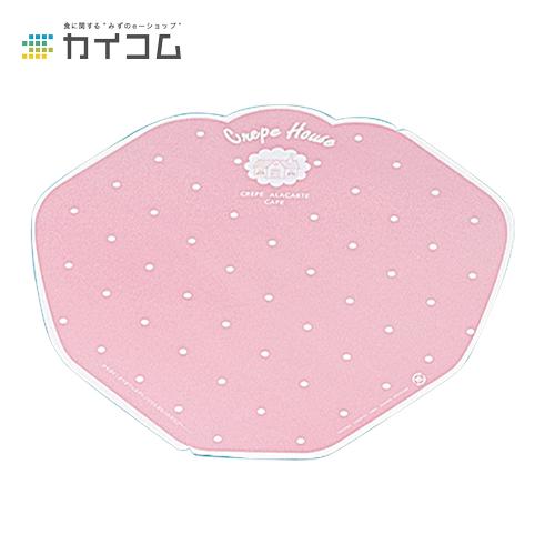 変形型クレープ包装紙(ピンク)サイズ : 260×273mm入数 : 3000単価 : 4.6円(税抜)
