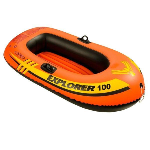 夏物激安特価! INTEX エクスプローラー100 ワンマンボート58329 一人乗り用 エアーボート 147×84×36cm