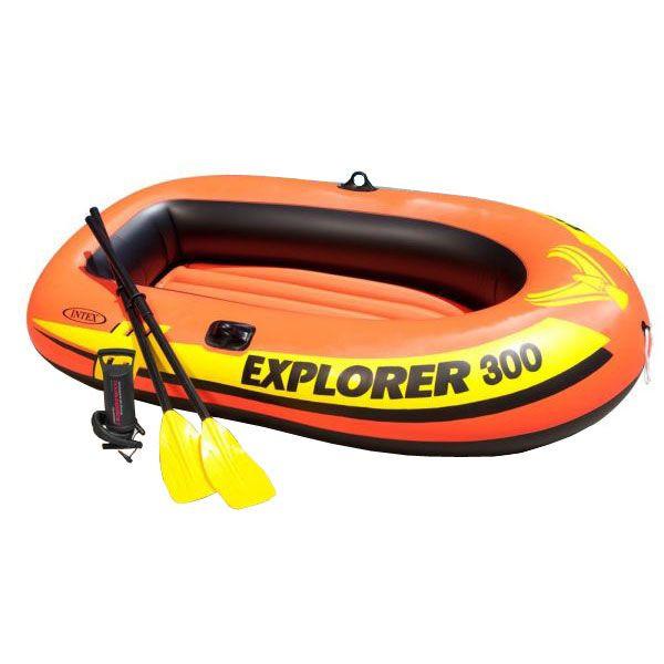 海外並行輸入正規品 本物 レジャーに INTEX エクスプローラー300 ボート58332 に三人乗り用 エアーボート 211×117×41cm
