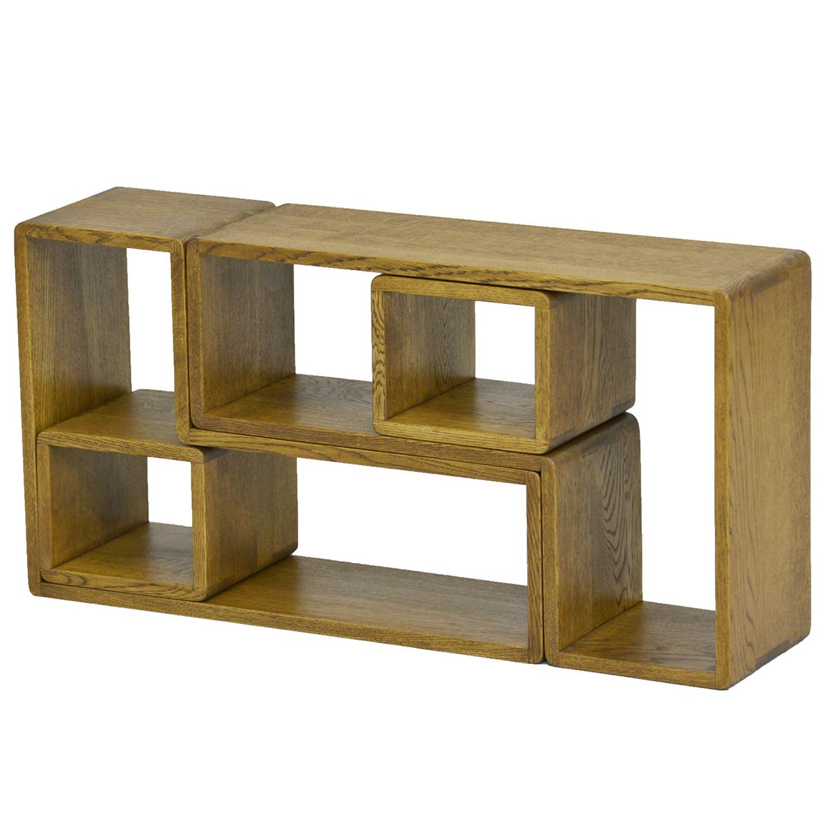 木製 おしゃれ 北欧 ラック ダーウィン ボックス 小 BOX付 ダーク色