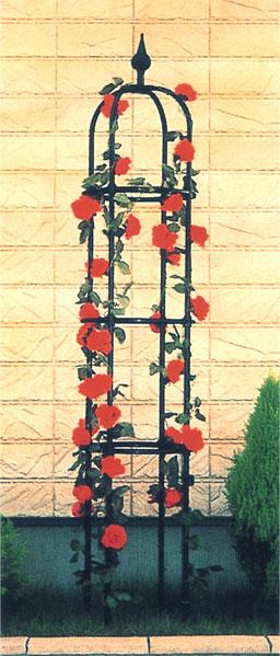 第一ビニール オベリスクBK [220cm、ブラック] 【菜園 園芸 支柱 竹 ガーデニング 家庭菜園 用品】【おしゃれ おすすめ】 [CB99]ローズアーチや園芸用フラワースタンドとしてガーデンに[菜園 園芸 支柱 竹 ガーデニング 家庭菜園 用品]