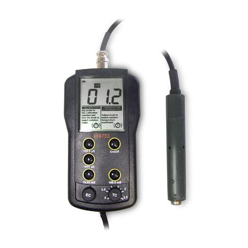 ハンナ ポータブルEC計 HI8733N 【ハンナ HANNA 計測機器 測定器 電極 用 用品】【おしゃれ おすすめ】 [CB99]