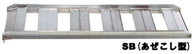 昭和ブリッジ アルミブリッジ SB-90 1.2t/2本セット・300幅 [ツメ] あぜこし型 【SB-90-30-1.2 ショートタイプ あぜこし用 スロープ アルミブリッジ 昭和ブリッジ】【おしゃれ おすすめ】 [CB99]