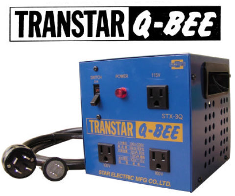 スター電器 トランスターキュービー変圧器 STX-3QB【おしゃれ おすすめ】 [CB99]