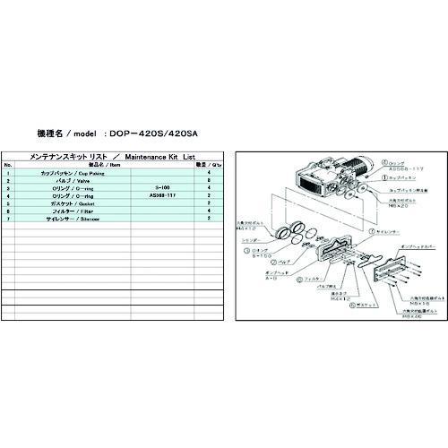 アルバック機工(株) ULVAC DOP-420SA用メンテナンスキット DOP-420SA_MAINTENANCEKIT 【DIY 工具 TRUSCO トラスコ 】【おしゃれ おすすめ】[CB99]