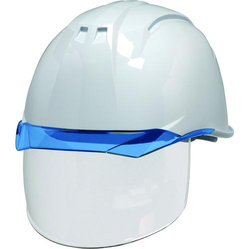 DIC 透明バイザーヘルメット(シールド面付) AA11EVO-CS KP 白/ブルー AA11EVO-CS-HA6-KP-W/B 【DIY 工具 TRUSCO トラスコ 】【おしゃれ おすすめ】[CB99]