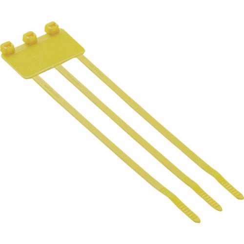 パンドウイット 旗型タイプナイロン結束バンド 黄 (500本入) PL3M2S-D4Y 【DIY 工具 TRUSCO トラスコ 】【おしゃれ おすすめ】[CB99]