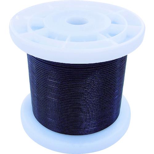 ニッサチェイン 黒コーティングワイヤロープ 1.2mm×100m TSY12V-BK 【DIY 工具 TRUSCO トラスコ 】【おしゃれ おすすめ】[CB99]