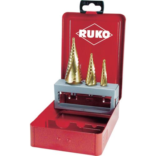 RUKO 2枚刃スパイラルステップドリルセット 3本組 チタン 101026T 【DIY 工具 TRUSCO トラスコ 】【おしゃれ おすすめ】[CB99]