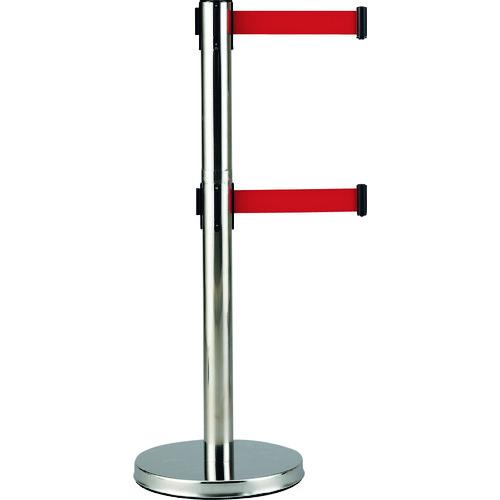 緑十字 Wベルトパーテーション 本体:銀 ベルト:赤 高さ1000mm SUS製 332143 【DIY 工具 TRUSCO トラスコ 】【おしゃれ おすすめ】[CB99]