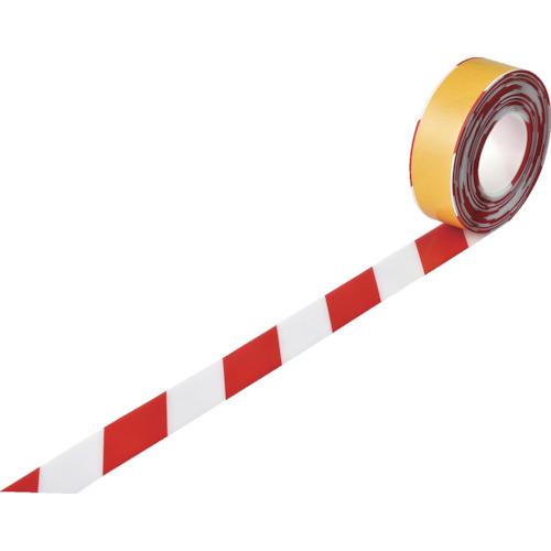 緑十字 高耐久ラインテープ 白/赤 50mm幅×10m 両端テーパー構造 屋内用 403078 【DIY 工具 TRUSCO トラスコ 】【おしゃれ おすすめ】[CB99]