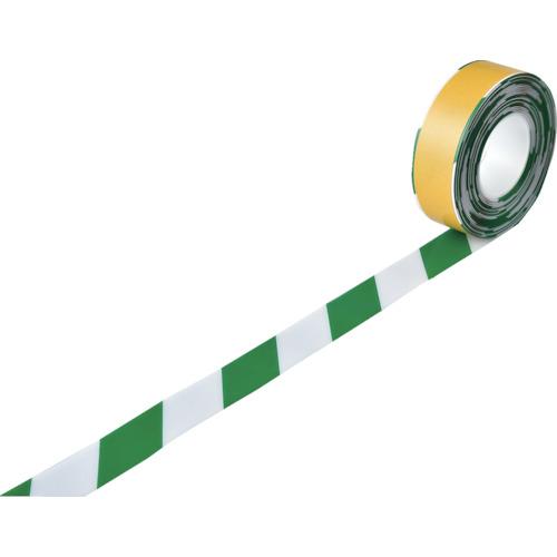 緑十字 高耐久ラインテープ 白/緑 50mm幅×10m 両端テーパー構造 屋内用 403079 【DIY 工具 TRUSCO トラスコ 】【おしゃれ おすすめ】[CB99]