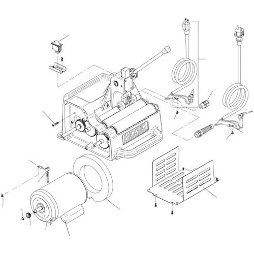 Ridge Tool Company RIDGID モーター カバー F122J 94862 【DIY 工具 TRUSCO トラスコ 】【おしゃれ おすすめ】[CB99]