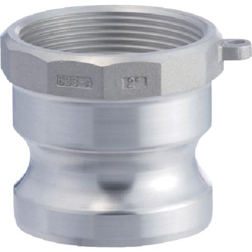 空圧用品 流体継手 チューブ 金属カップリングの関連商品 トヨックス 633-AB カムロックアダプター メネジ アルミ 3 セール 特集 4インチ 新色追加 CB99 AL 4_AL おしゃれ TRUSCO 633-AB_3 おすすめ 工具 トラスコ DIY