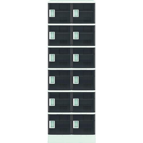 アイリスチトセ 樹脂ロッカー12人用 クリアブラウン TJL-S26ST-BR 【DIY 工具 TRUSCO トラスコ 】【おしゃれ おすすめ】[CB99]
