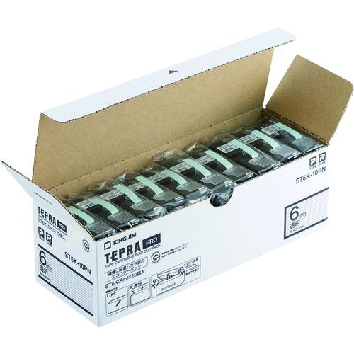 キングジム 「テプラ」PROテープエコパック(10個入り)透明 ST6K-10PN 【DIY 工具 TRUSCO トラスコ 】【おしゃれ おすすめ】[CB99]