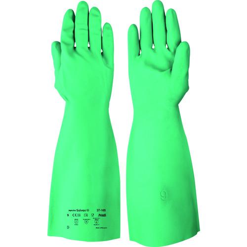 保護具 作業手袋 耐薬品 耐溶剤手袋の関連商品 アンセル 耐油 耐薬品ニトリル厚手手袋 アルファテック ソルベックス セール価格 37-165 TRUSCO 37-165-9 トラスコ 日本限定 工具 CB99 Lサイズ おすすめ おしゃれ DIY