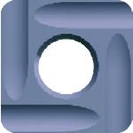 富士元 フェイス加工用Nタイプ精密級チップ 超硬M種 TiAlN NK6060 N43GUR_NK6060-NK6060 [12個入] 【DIY 工具 TRUSCO トラスコ 】【おしゃれ おすすめ】[CB99]