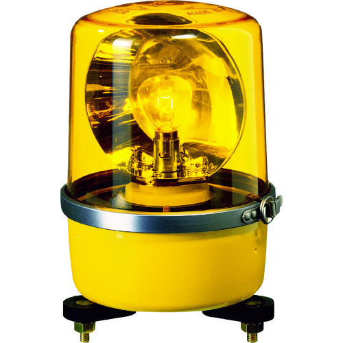 パトライト SKP-A型 中型回転灯 Φ138 色:黄 SKP-101A-Y 【DIY 工具 TRUSCO トラスコ 】【おしゃれ おすすめ】[CB99]