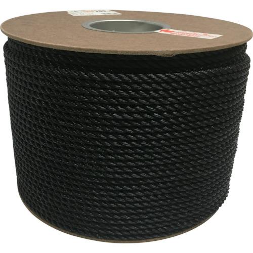 ユタカメイク ポリエチレンロープドラム巻 6mm×200m ブラック PRE-104 【DIY 工具 TRUSCO トラスコ 】【おしゃれ おすすめ】[CB99]