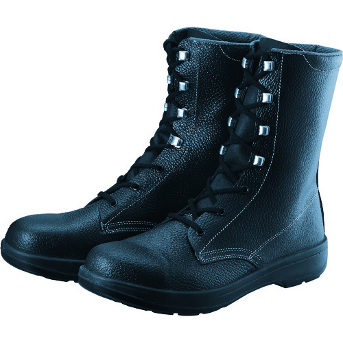 シモン 2層ウレタン底安全長編上靴 23.5cm ブラック AW33BK-23.5 【DIY 工具 TRUSCO トラスコ 】【おしゃれ おすすめ】[CB99]
