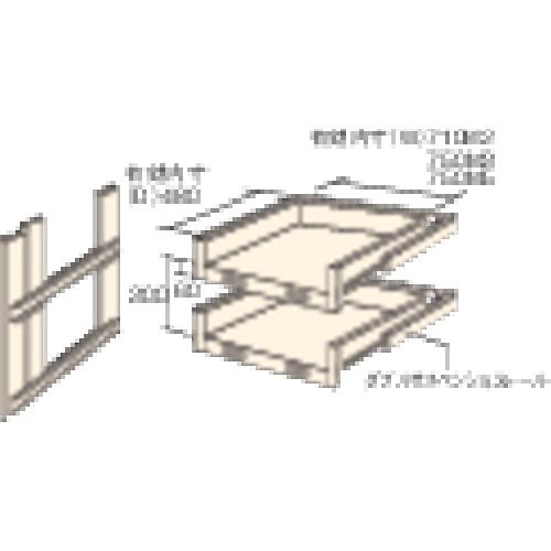 トラスコ中山(株) TRUSCO M3・M5型棚用スライド棚 2段セット HTMM-6002 【DIY 工具 TRUSCO トラスコ 】【おしゃれ おすすめ】[CB99]
