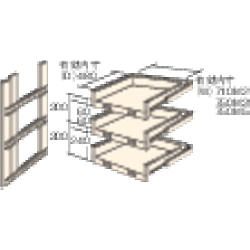 トラスコ中山(株) TRUSCO M3・M5型棚用スライド棚 3段セット HTMM-9003 【DIY 工具 TRUSCO トラスコ 】【おしゃれ おすすめ】[CB99]