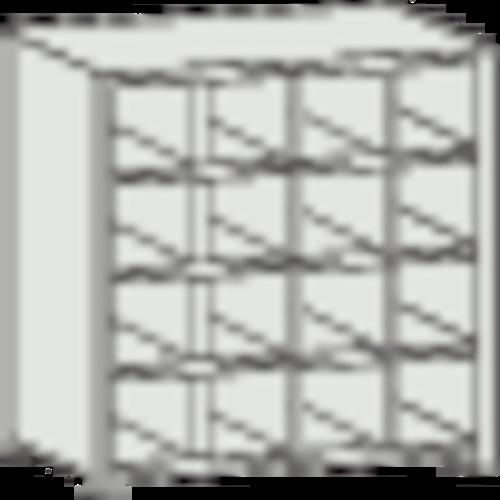 トラスコ中山(株) TRUSCO KB型区分棚コボレ止め付 889X264XH927 4列4段 KB-4043 【DIY 工具 TRUSCO トラスコ 】【おしゃれ おすすめ】[CB99]