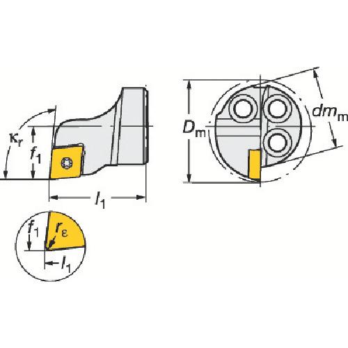サンドビック コロターンSL コロターン111用カッティングヘッド 570-SCLPR-16-06 【DIY 工具 TRUSCO トラスコ 】【おしゃれ おすすめ】[CB99]