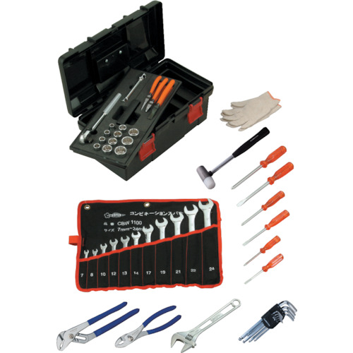 送料無料 手作業工具 工具セット 手提げタイプの関連商品 付与 スーパー プロ用標準工具セット S6500N TRUSCO おしゃれ 工具 DIY 人気の定番 CB99 トラスコ おすすめ