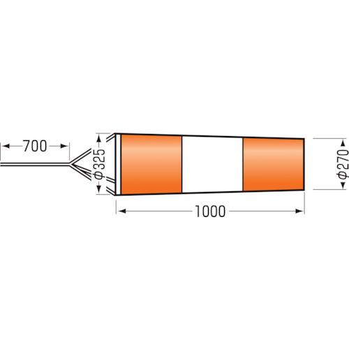 つくし ファインメッシュ吹き流し 小 640-S 【DIY 工具 TRUSCO トラスコ 】【おしゃれ おすすめ】[CB99]