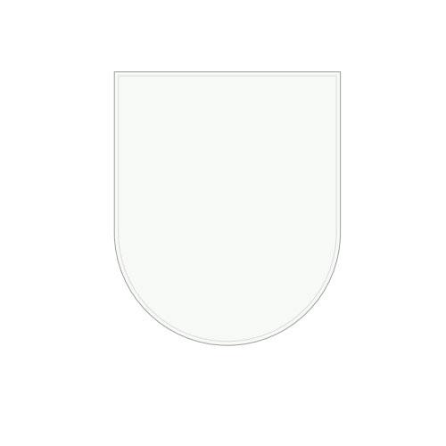 MORSO ガラス フロアプレート ハーフサークル型 523519 【暖炉 薪ストーブ 薪ストーブアクセサリ 床の保護 フロアプレート】【おしゃれ おすすめ】[CB99]