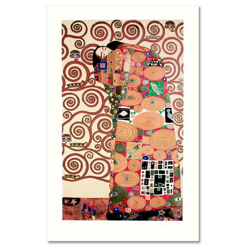 【送料無料】絵画■クリムト■成就■選べる額縁■額装込■複製画■複製絵画■プレゼント贈答品におすすめ