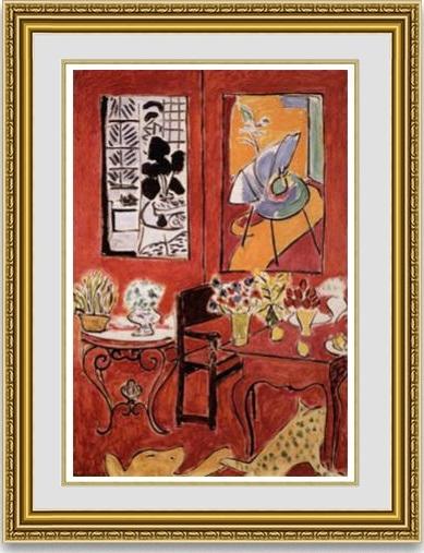 【送料無料】絵画■アンリ・マティス■大きな赤い室内■選べる額縁■額装込■複製画■複製絵画■プレゼント贈答品におすすめ