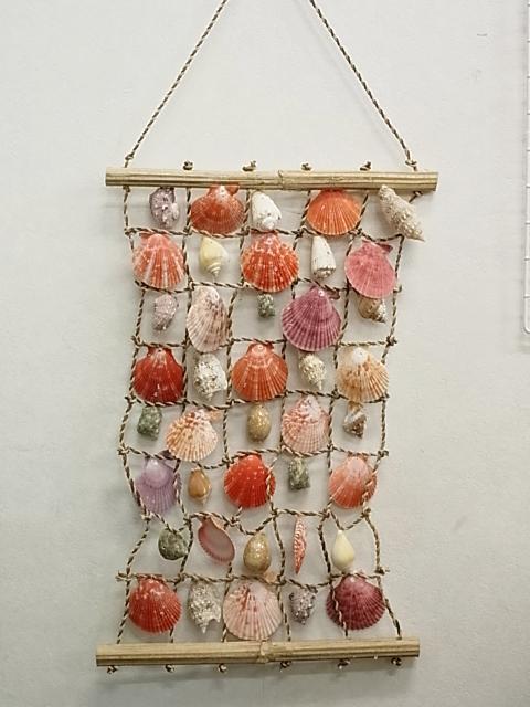 貝殻とヒトデの専門店です 超特価 シェルハンモック 小 約33×47cm シェル 貝殻 貝 1本 豪華な